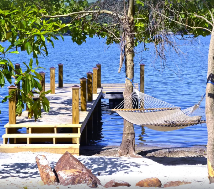 Intimate hideaway with Beach, Dock, Hot Tub, Pontoon Rental Availability, etc. Property overview